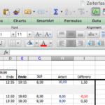 Excel Zeiterfassung – Vorteile und Nachteile