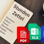Gratis Stundenzettel zum Ausdrucken für Word, Excel oder PDF